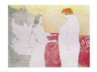 Woman in Bed, Profile - Waking Up, 1896 by Henri de Toulouse-Lautrec, 1896 - various sizes