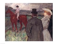 At the Racecourse, 1899 by Henri de Toulouse-Lautrec, 1899 - various sizes, FulcrumGallery.com brand