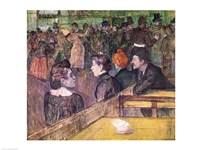 At the Moulin de la Galette, 1899 by Henri de Toulouse-Lautrec, 1899 - various sizes, FulcrumGallery.com brand