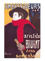 Poster advertising Aristide Bruant Fine Art Print