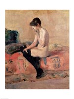 Nude Woman Seated on a Divan, 1881 Fine Art Print