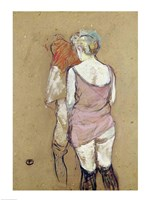 Two Semi-Nude Women at the Maison de la Rue des Moulins, 1894 Fine Art Print