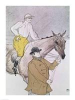 The jockey led to the start Fine Art Print
