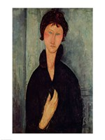 Woman with Blue Eyes, 1918 by Amedeo Modigliani, 1918 - various sizes