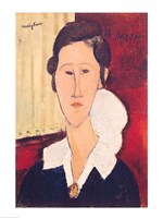 Portrait of Madame Hanka Zborowska, 1917 Fine Art Print