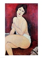 Large Seated Nude Fine Art Print
