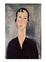 Woman with Earrings Fine Art Print
