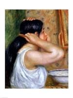 Girl Combing her Hair, 1907 by Pierre-Auguste Renoir, 1907 - various sizes