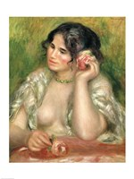 Gabrielle with a Rose, 1911 Fine Art Print