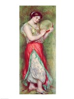 Dancing Girl with Tambourine, 1909 Fine Art Print