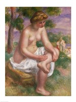 Seated Bather in a Landscape Fine Art Print