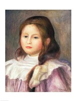 Portrait of a Child - pink dress Fine Art Print