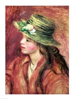 Young Girl in a Straw Hat Fine Art Print