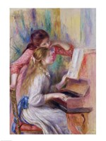 Young Girls at the Piano by Pierre-Auguste Renoir - various sizes