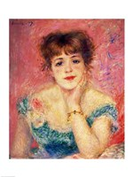 Portrait of the actress Jeanne Samary, 1877 by Pierre-Auguste Renoir, 1877 - various sizes