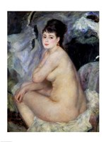Nude Seated on a Sofa, 1876 by Pierre-Auguste Renoir, 1876 - various sizes