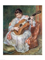 The Guitar Player, 1897 by Pierre-Auguste Renoir, 1897 - various sizes