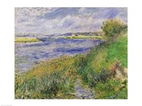 The Banks of the Seine, Champrosay, 1876 Fine Art Print