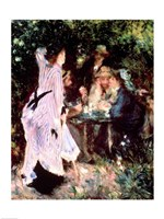 Under the Trees of the Moulin de la Galette, 1875 Fine Art Print