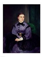 Portrait of Mademoiselle Sicot, 1865 Framed Print