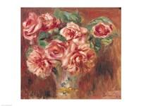 Roses in a Vase, 1890 by Pierre-Auguste Renoir, 1890 - various sizes