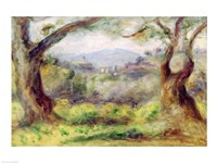 Landscape at Les Collettes, 1910 Fine Art Print