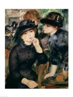 Girls in Black, 1881-82 Fine Art Print