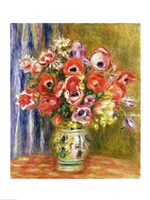 Vase of Tulips and Anemones, 1895 by Pierre-Auguste Renoir, 1895 - various sizes - $15.99