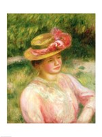 The Straw Hat, 1895 by Pierre-Auguste Renoir, 1895 - various sizes