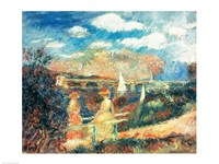 The banks of the Seine at Argenteuil, 1880 Fine Art Print