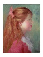 Young girl with Long hair in profile, 1890 Fine Art Print