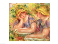 Two women in blue blouses, 1919 Fine Art Print
