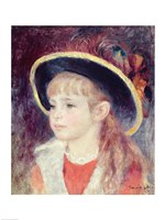 Portrait of a Young Girl in a Blue Hat, 1881 by Pierre-Auguste Renoir, 1881 - various sizes