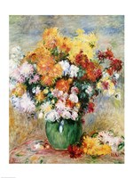 Bouquet of Chrysanthemums, 1884 by Pierre-Auguste Renoir, 1884 - various sizes
