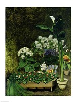 Flowers in a Greenhouse, 1864 Fine Art Print
