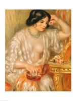 Gabrielle with Jewellery, 1910 Fine Art Print
