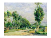 The Road to Versailles at Louveciennes Fine Art Print