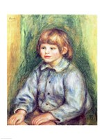 Seated Portrait of Claude Renoir by Pierre-Auguste Renoir - various sizes