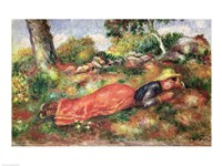 Young Girl Sleeping on the Grass Fine Art Print
