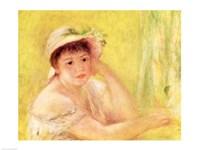 Woman in a Straw Hat, 1879 Fine Art Print