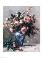 Vase of Roses by Pierre-Auguste Renoir - various sizes - $29.99