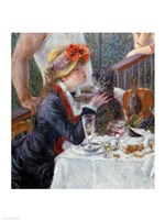 The Luncheon of the Boating Party, 1881 - close up Fine Art Print