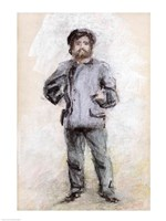 Portrait of Claude Monet - standing Fine Art Print
