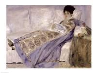 Madame Monet on a Sofa, c.1874 Fine Art Print