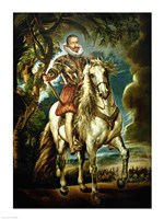 Equestrian portrait of the Duke of Lerma Fine Art Print