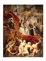 The Arrival of Marie de Medici in Marseilles, 3rd November 1600 by Peter Paul Rubens, 1600 - various sizes