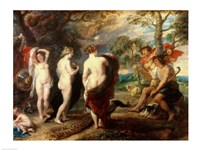 The Judgement of Paris - dark colors Fine Art Print