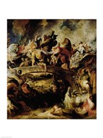 Battle of the Amazons and Greeks Fine Art Print