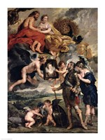 The Medici Cycle: Henri IV Receiving the Portrait of Marie de Medici Fine Art Print