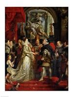 The Proxy Marriage of Marie de Medici Fine Art Print